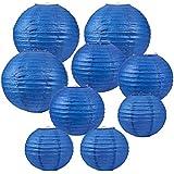 BENECREAT 21個セット青い提灯 3つサイズ紙提灯 ちょうちん 誕生日会 結婚式 パーティー装飾素材 工芸品 丸い提灯