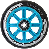 Team Dogz 1 x Nylon Core Replacement Scooter Wheel 100mm, Black 88A PU with ABEC 7 Bearings. Fits MGP, Razor, Pulse, Envy etc