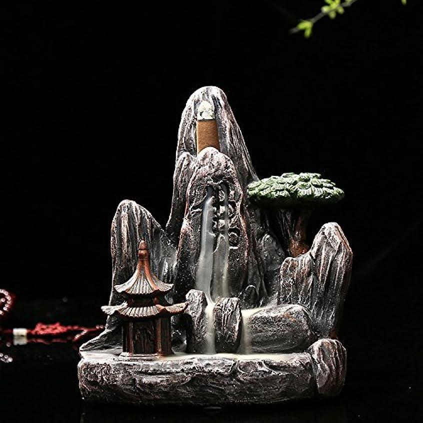 会話グリーンランドフォーマルomonic Zen Garden Mountain Stream Backflow手作り樹脂Incense Holder Burner、アロマセラピー炉Diffuser forホームインテリア