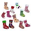 KOZEEY木製 ボタン カラフル クリスマスソックス柄 靴下の形状 縫製 工芸 ボタン DIY 50個入り