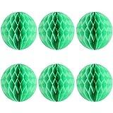 uxcell 吊り飾り ハニカムボール ランタン 結婚式 誕生日 パーティー 紙 円形 グリーン 10個セット