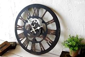 掛け時計 Cogwheel Roman (おしゃれ 掛時計 歯車)