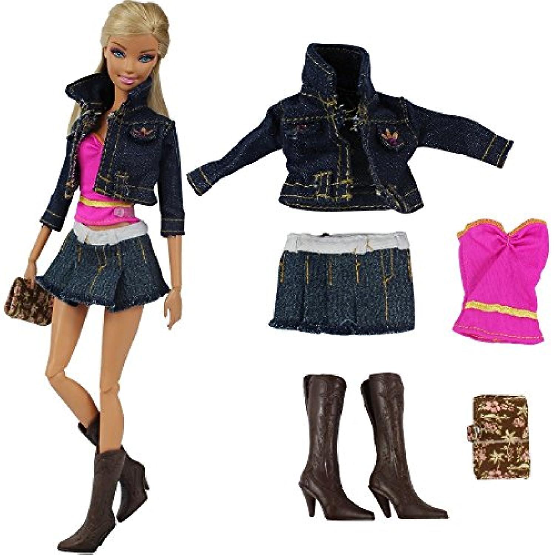 「Barwawa」バービー人形 服 手作り ドール 着せ替えセット ジェニー ウェア カジュアル風 ドール用 人形用 アクセサリー 1/6ドール用 手帳?靴付き