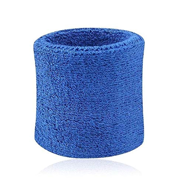 面積規制するしなやかハンドブレースリストバンドのサポートスリーブスポーツリストバンドブレースラップ包帯スポーツ用バンドの安全手首のサポート布コットンスウェット 手,ブルー
