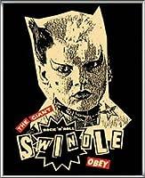ポスター オベイ Catwoman Swindle Signed and numbered from the edition of 300 額装品 アルミ製ハイグレードフレーム(シルバー)
