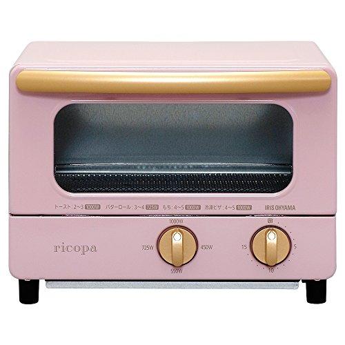 アイリスオーヤマ オーブントースター トースト2枚 4段階温度...