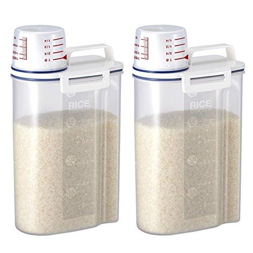 [お得な2個セット]アスベル 密閉米びつ2kg ホワイト 7...
