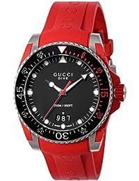 [グッチ]GUCCI 腕時計 DIVE ブラック文字盤 YA136309 メンズ 【並行輸入品】