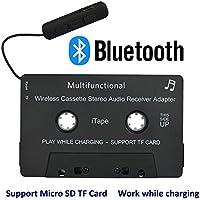 iTapeカセットアダプタ車のBluetoothオーディオレシーバの仕事は、サポートのTFカードをサポートしながら