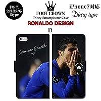 BRAVE CROWN t060 iPhone XS Max XR X 8 7 6s 6 plus プラス SE 5s 5 手帳型 スマホ ケース Xperia Galaxy 全機種対応 ダイアリー ブランド グッズ サッカー フットボールクリスチアーノ ロナウド ユベントス マンチェスターユナイテッド マンU レアルマドリード ポルトガル CR7 ユニフォーム エンブレム メンズ レディース