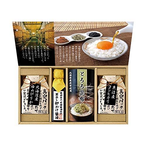 蔵出し卵がけ醤油と美味しい米ギフト R×-25
