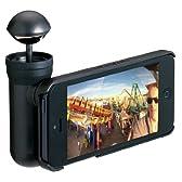 プリンストンテクノロジー BubblePix iPhone 5/5S用360°パノラマ撮影キット bubblescope ブラック BUBSCOIP5