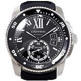カルティエ CARTIER カリブル ドゥ カルティエ ダイバー W7100056 メンズ 腕時計 ブラック オートマ 自動巻き ウォッチ 【中古】 90059..