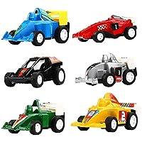 Ginkago 建設車両 レースミニ車 おもちゃ プルバック 6パック 子供用