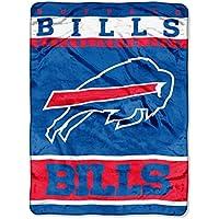 NFL 12th Man フラシ天 ラッセル ブランケット 60インチ × 80インチ ブルー