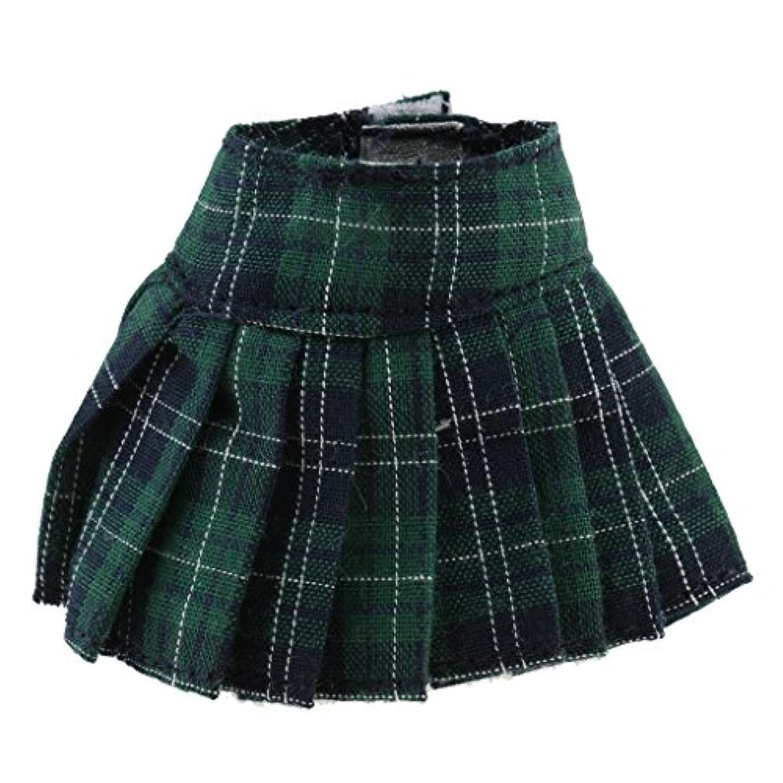 Prettyia 古典的  ファッション 人形ドレス 1/6スケールブライスアゾンリッカドールのため プリーツスカート ドレス アクセサリー 4カラー選ぶ - グリーン