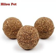 AuCatStore(TM) Kitten Natural Toy Catnip Balls Menthol Flavor Cats Treats Edible Game Toys 3pcs