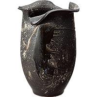 信楽焼 傘立て 黒釉ビードロ変形傘立 幅37x奥33x高さ55cm 536-02