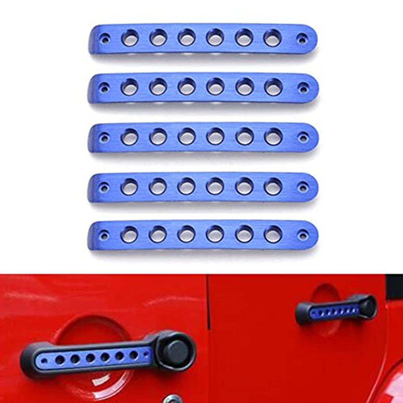 エネルギー羊の服を着た狼請願者Jicorzo - For Jeep Wrangler 4 Doors Car Exterior Door Handle Bar Mouldings Cover Trim Styling Decor Stickers Automobile...
