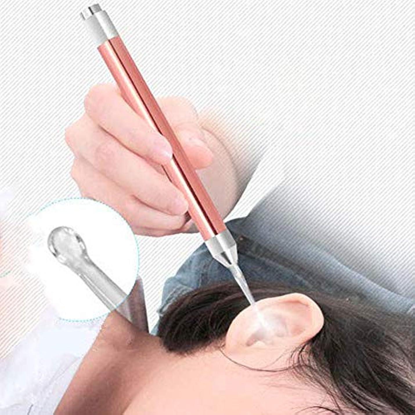 構成放課後男やもめLindexs LEDライト付き耳かき 耳ケア ledライト付き 耳掃除 耳垢除去 光棒 はっきり見える 楽に耳垢をとる 収納ケース付 (ローズゴールド)