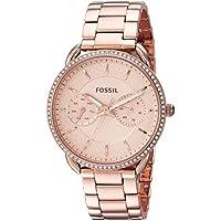 FOSSIL Women's ES4264 Year-Round Analog-Digital Quartz Rose Gold Band Watch