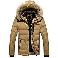 Misaky for Men's Winter Outdoor Down Zipper Thick Jacket Puffer Coats