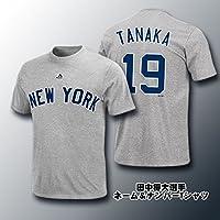 田中 将大 マー君 ヤンキース ネーム&ナンバーTシャツ グレー mm08nyk001919-gray