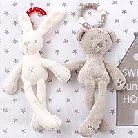 suzytoyかわいいベビーベッドベビーカートイRabbit Bunny Bear Soft Plush Infant人形モバイルBed Pram Kid動物Hangingリングリングカラーランダム