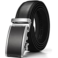 Men's Belt,Wetoper Slide Ratchet Belt for Men with Genuine Leather 1 3/8,Trim to Fit