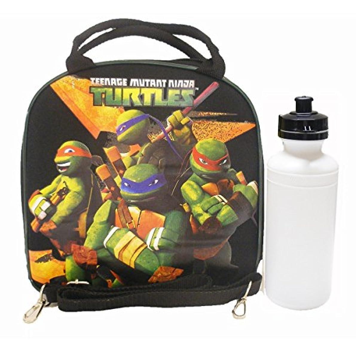 奇妙なシュガー注ぎます1 X Ninja Turtles Black lunch Bag with Water Bottle by Nickelodeon