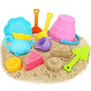 Newisland お出かけ砂場遊びセット  アフタヌーンティーおままごと お風呂用9点知育玩具