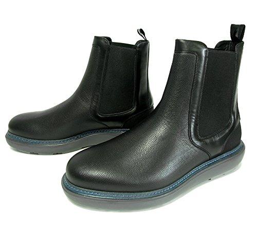 (フェラガモ) ブーツ レザー 靴 メンズ サイドゴア ブラック STORM SF-1803 [並行輸入品]