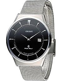 [オリエント]ORIENT 日本製 腕時計 ウォッチ 薄型 シンプル ビジネス カレンダー メンズ (ブラック) [並行輸入品]