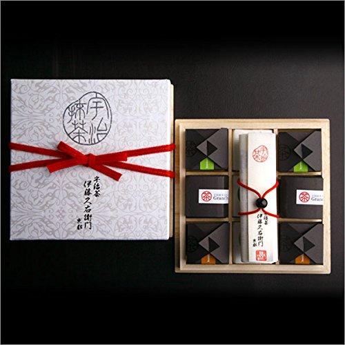 伊藤久右衛門宇治抹茶高級チョコレートトリュフボンボン詰め合わせプレミアムボックス12個桐箱入