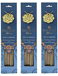 Esscentsホーム90 SticksプレミアムIncense with 3メタルIncense Holders – Ocean Breeze