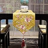テーブルランナー/ファッションホーム/テレビのキャビネットカバー布/女性ドレッシングテーブルクロス/結婚式の宴会の装飾/ダストカバー g (Color : Yellow-, Size : 33×160cm)