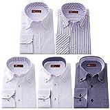 (ワワジャパン)WAWAJAPAN 3種類から選べる 在庫限り メンズ長袖ワイシャツ5枚セット LL TK-13-Eセット
