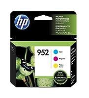 HP 952 Cyan, Magenta & Yellow Original Ink Cartridge, 3-Pack (N9K27AN#140) [並行輸入品]
