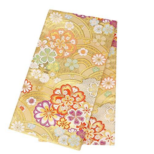 (キステ)Kisste 振袖 帯 袋帯 成人式 <ゴールド/青海波に八重桜> 西陣織 <大光織物> 仕立て上がり 金 6-4-00720