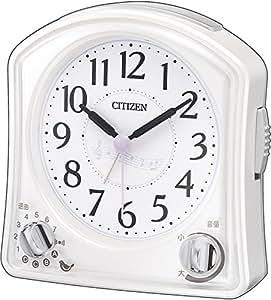 CITIZEN (シチズン) 目覚し時計ムーランR02F メロディ・バードソングアラーム付き ホワイト 8RMA02-N03
