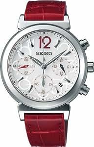 [セイコーウォッチ]SEIKO WATCH 腕時計 LUKIA ルキア ソーラー サファイアガラス スーパークリア コーティング 日常生活用強化防水 (10気圧) クロコダイル革バンド (赤) SSVS017 レディース