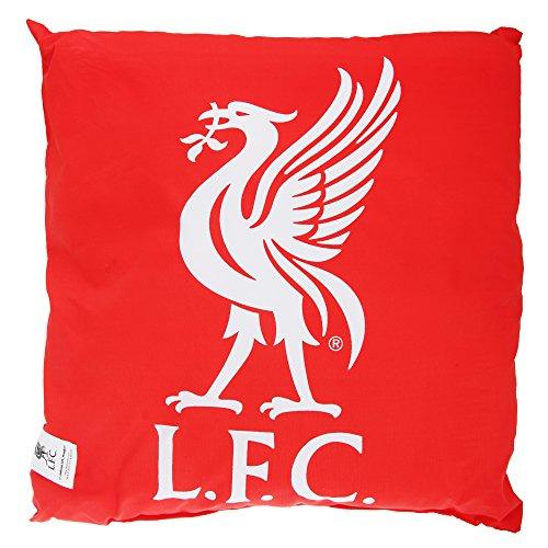 リバプール フットボールクラブ Liverpool FC オフィシャル商品 クレストデザイン クッション イギリスサッカークッション ピロー 枕 (ワンサイズ) (レッド)