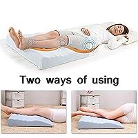 足枕 三角クッション エアバッグと脚標高枕、緩和脚の痛み、股関節や膝の痛みのための高さ調節12-22センチ、収縮膨張が循環を改善削減