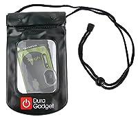 DURAGADGET耐久性ブラック耐水旅行ポーチケース–と互換性新しいOlympus Stylus tg-870カメラ–with調節可能なネックストラップ