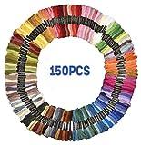 刺しゅう糸 150本 150色 8m セット クロスステッチ ミサンガ 刺繍糸 まとめ買い 6本綴 カラフル