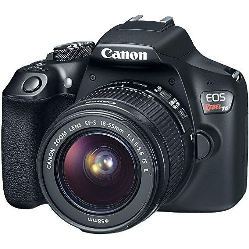 衣類一瞬クアッガCanon EOS Rebel T6 Digital SLR Camera Kit with EF-S 18-55mm f/3.5-5.6 IS II Lens Built-in WiFi and NFC - Black (Certified Refurbished) [並行輸入品]