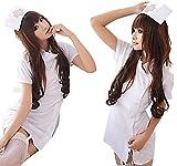 R-STYLE 可愛く診察しちゃうぞ コスプレ衣装 看護婦 ナース コスチューム 4点セット (ホワイト)