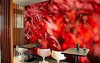 """3D 赤い葉 398 壁紙 印刷 デカール デコ 屋内 壁の壁画 自己粘着性の壁紙 AJ WALLPAPER JP Zoe (【205""""x114""""】520x290cm(WxH), 織り紙(接着剤が必要))"""