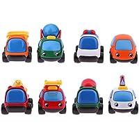 Greensun TM 2pcsミニ漫画エンジニアリングトラックキッズギフトおもちゃ慣性車教育学習ツールボーイズ子供車モデルおもちゃ