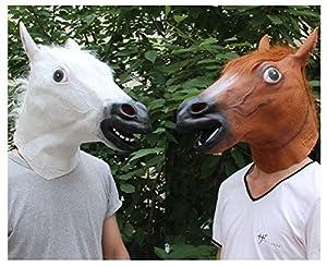 【 馬ヅラ アニマルマスクセット( サラブレット + 白馬 2点セット ) 】    「馬」を皆でかぶって楽しく運気アップ!?☆   パーティーの余興、日常のネタ作り、夫婦の記念日、旅の思い出に・・・   画像・動画撮影にも大人気です☆   【サイズ】男女兼用フリーサイズ   【素材】合成ゴム   ※馬を被ったままでの運転や独り歩きはお止め下さい。  視野が狭くなり大変危険です。    ※首の後ろ側に切れ目の入った商品が一部ございますが、  「かぶりやすいように」とのメーカー側の配慮であり  不...